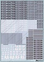 Begemot Decals 1/72 Russian VKS Board Numbers and Signs (Type 2018) # 72080